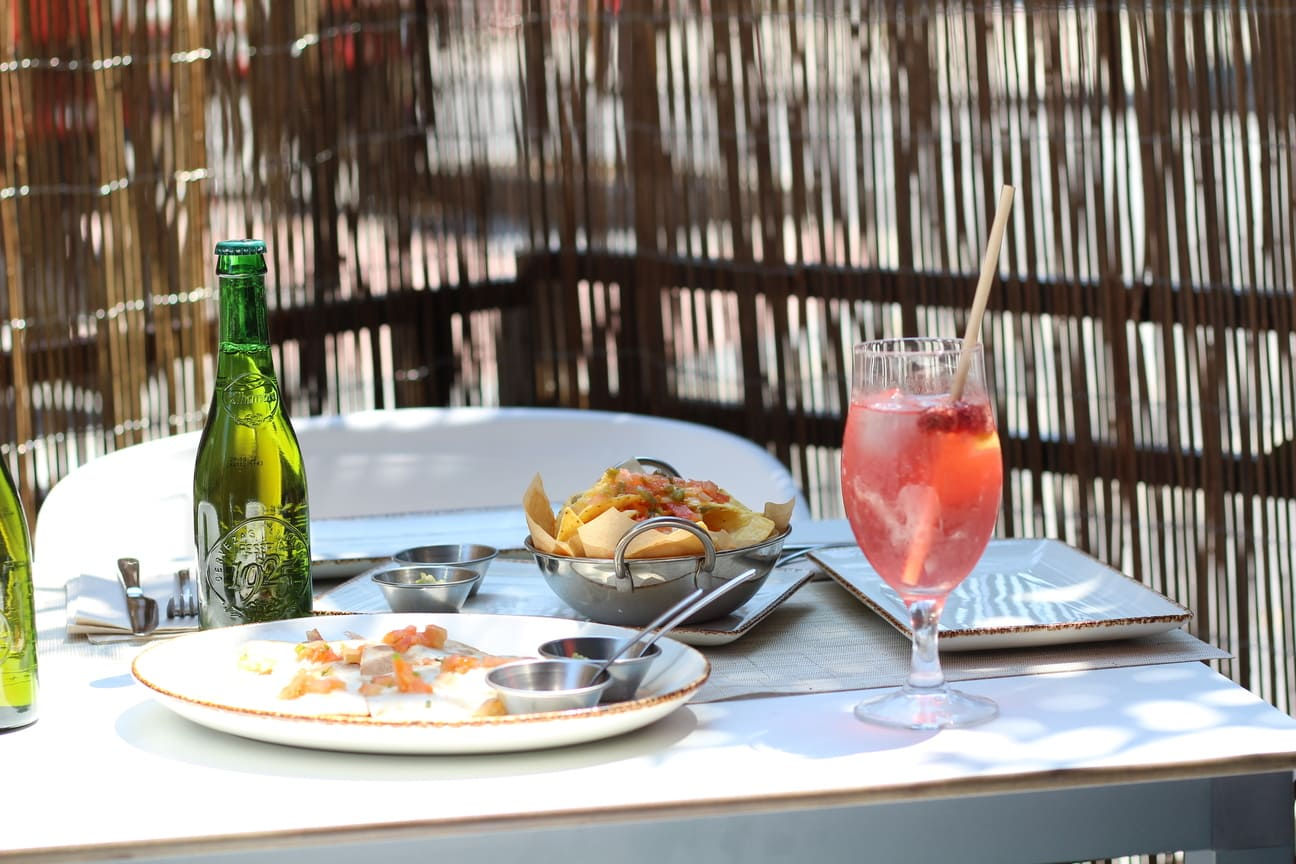Terraza de Cafe Late Madrid en Verano